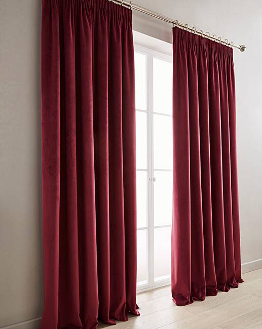Great Luxury Heavyweight Velour Long Length Lined Pencil Pleat Curtains