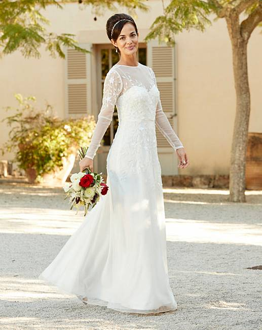 Joanna hope beaded bridal dress marisota for Wedding dress stores in arkansas
