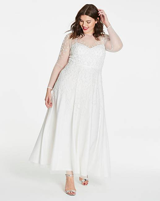 Joanna Hope Beaded Bridal Dress   Simply Be