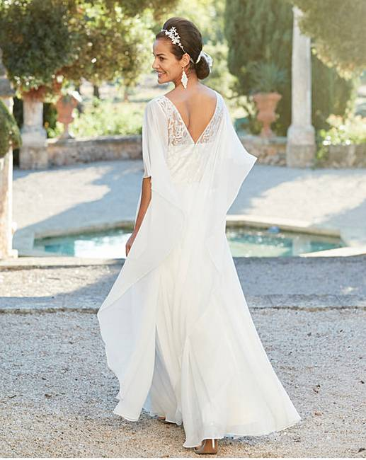 Joanna hope cape bridal dress marisota for Wedding dress stores in arkansas