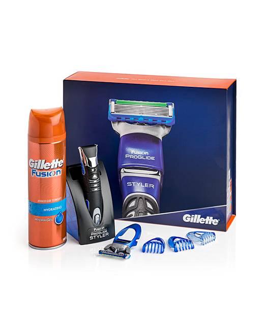Gillette Fusion ProGlide Styler Gift Set | Jacamo