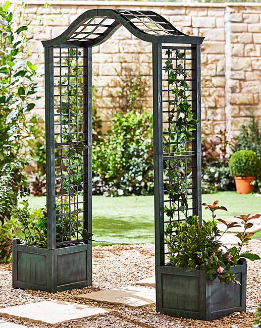 Attractive Garden Arch With Planters