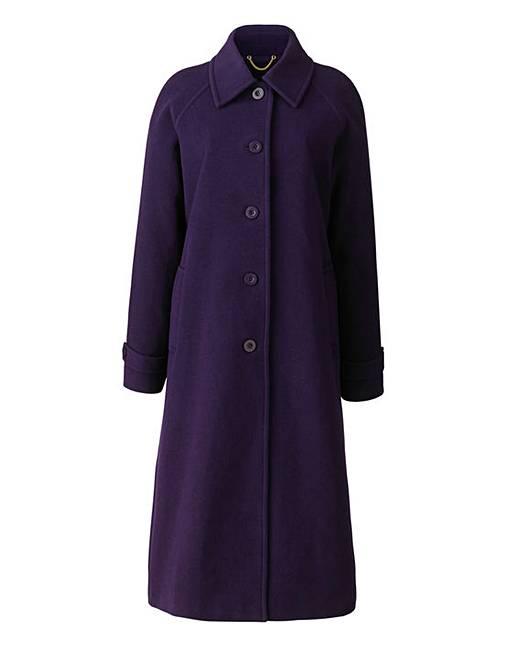 dannimac longline coat length 44in j d williams. Black Bedroom Furniture Sets. Home Design Ideas