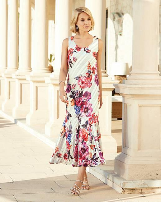 Satin Print Dress Julipa