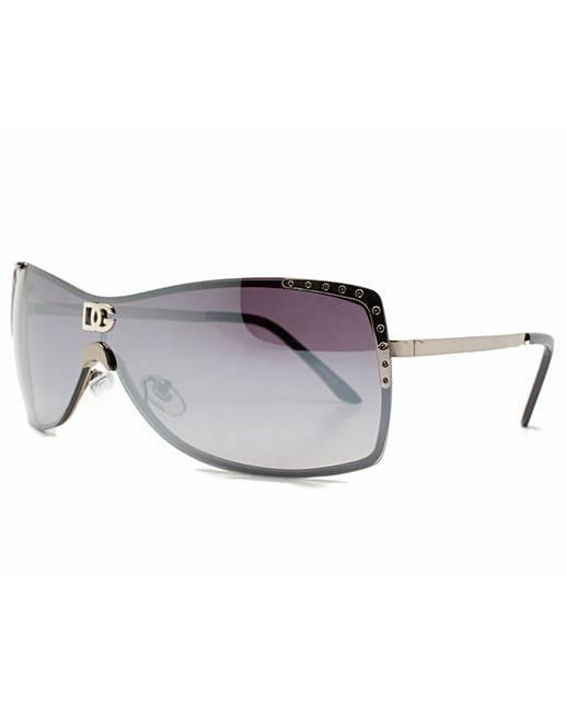 DG Eyewear Damen Sonnenbrille Black Frame Black Smoked Lenses fauUaESpLb