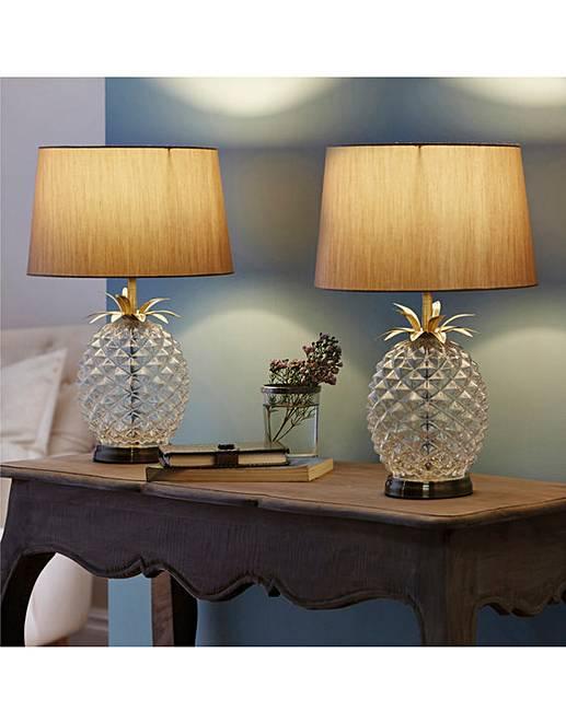 Glass pineapple table lamp house of bath glass pineapple table lamp aloadofball Images