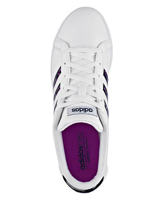 adidas coneo qt leather ladies trainers grey