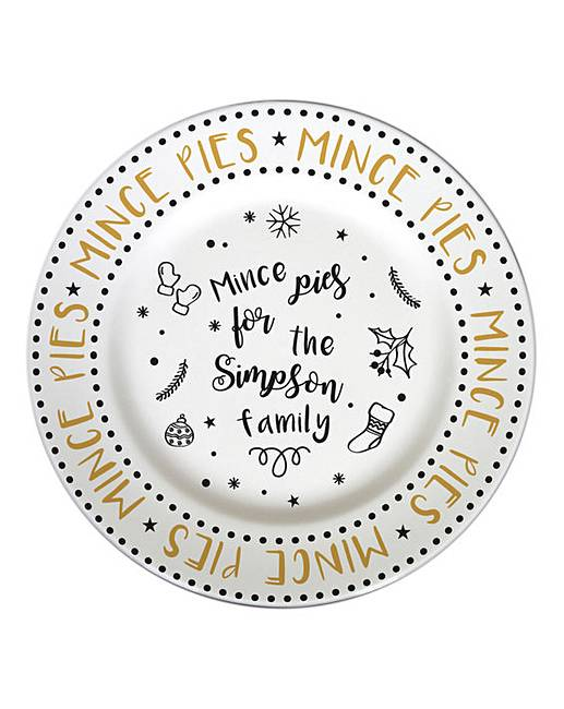 Personalised Mince Pie Plate  sc 1 st  Oxendales & Personalised Mince Pie Plate | Oxendales