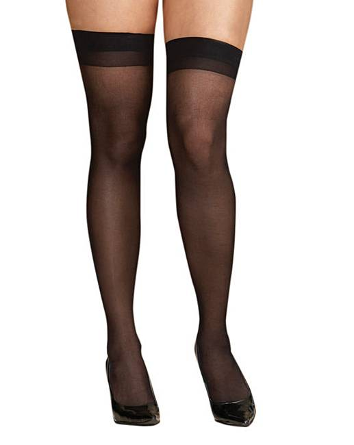 Dreamgirl sheer thigh high stockings simply be for Simply stockings