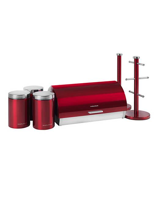morphy richards red kitchen accessories morphy richards accents worktop set j d williams 9291