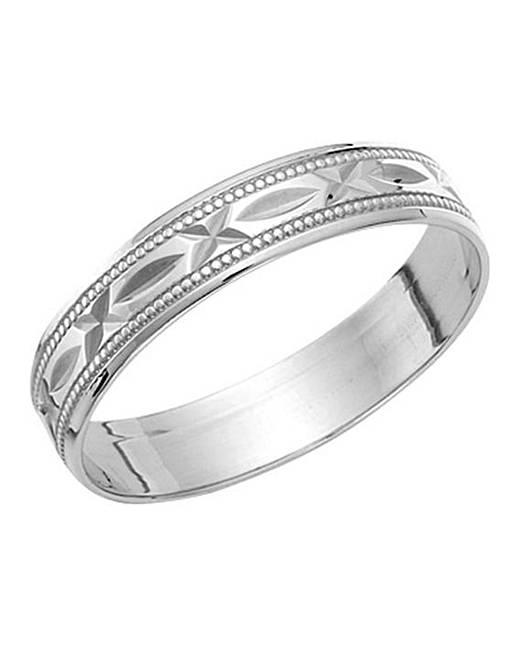 9 carat white gold wedding band jacamo