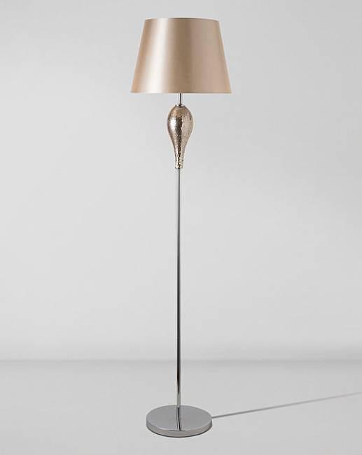 Rose gold mosaic floor lamp premier man for Floor lamp mosaic wood