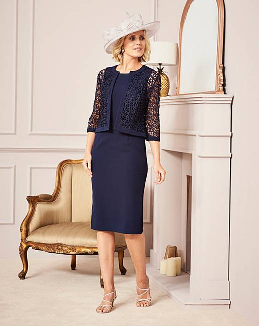 nightingales occasion dress and jacket j d williams. Black Bedroom Furniture Sets. Home Design Ideas