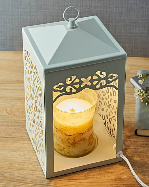 Scroll Candle Warmer Lamp. Rollover Image To Magnify