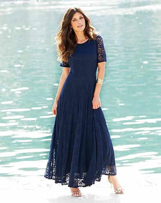 JOANNA HOPE Lace Maxi Dress   J D Williams