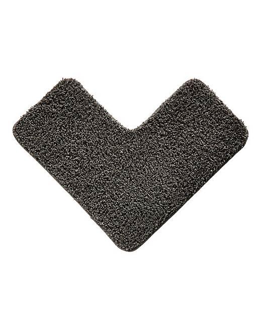 shaggy ultra absorbent l shape bath mat jacamo