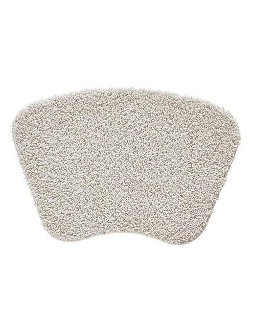 shaggy ultra absorbent curved bath mat j d williams. Black Bedroom Furniture Sets. Home Design Ideas