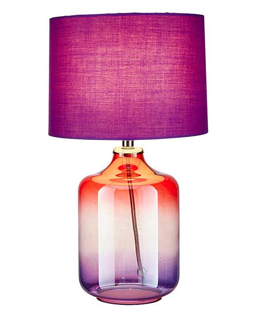 Oliver ombre table lamp plum