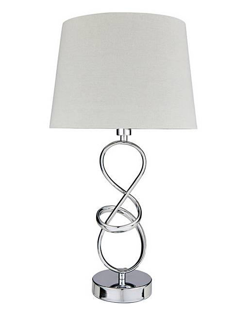 Swirl chrome table lamp