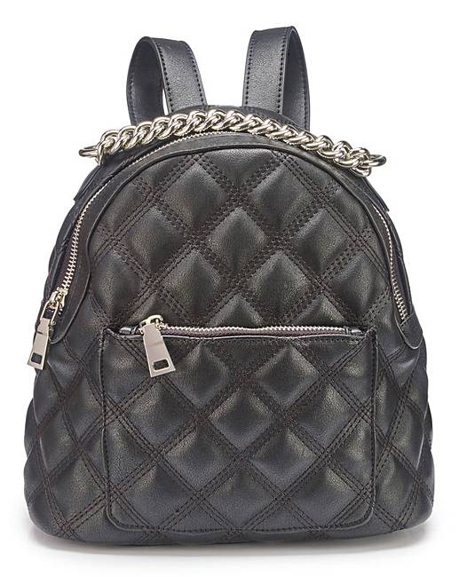 Simply Be Small Quilted Backpack with Chain NDx4XiBbpc