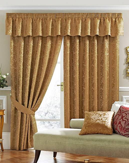 Damask Lined Curtains | House of Bath