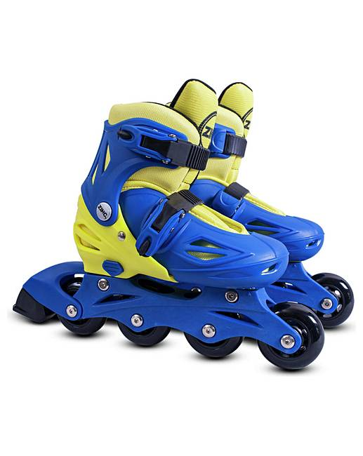 zinc inline roller skates 13 3 blue j d williams. Black Bedroom Furniture Sets. Home Design Ideas