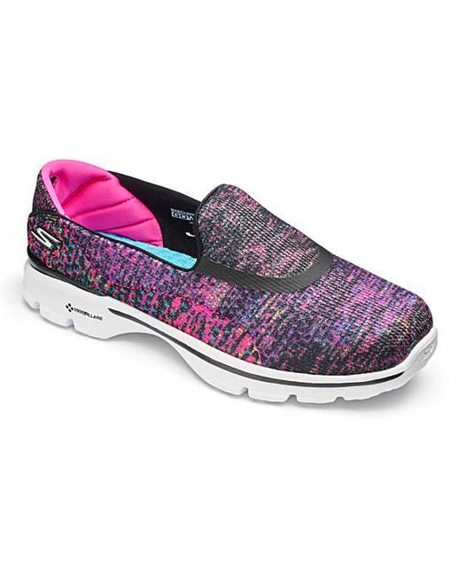 Skechers Womens Go Walk  Shoes Wide  Uk