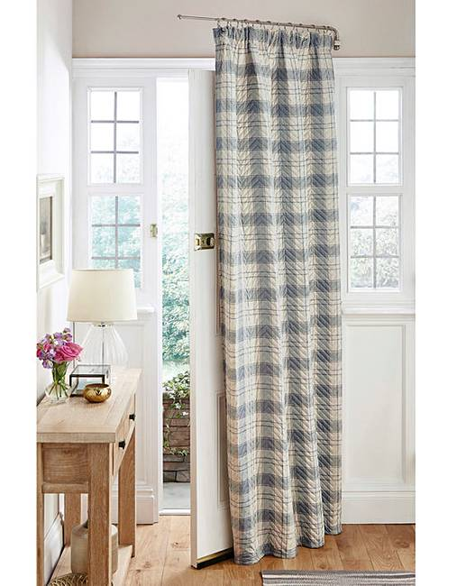 Quilted Thermal Tartan Door Curtain | House of Bath