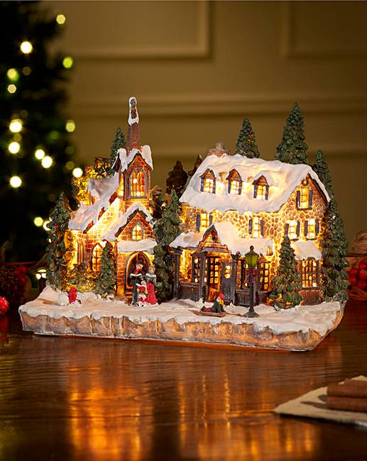 Light Up Christmas Village Scene Fifty Plus