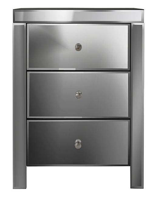 smoked mirrored furniture. Venice Mirrored 3 Drawer Bedside Table Smoked Furniture S