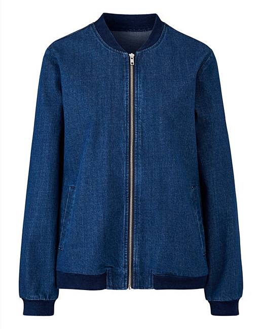 Denim Bomber Jacket | J D Williams