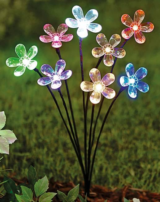 Solar Light Staked Flower Spray House Of Bath