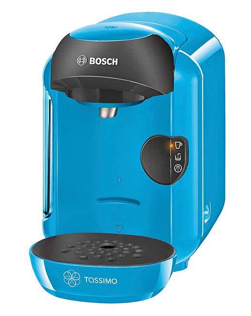 bosch tassimo vivy blue coffee machine j d williams. Black Bedroom Furniture Sets. Home Design Ideas