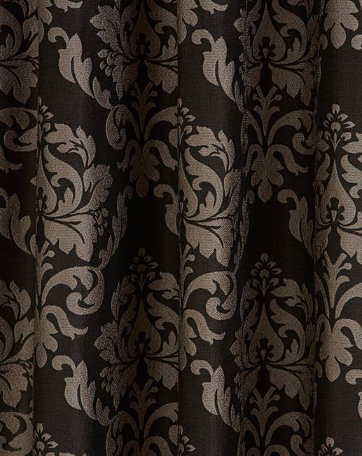 Hallam Damask Lined Eyelet Curtains | J D Williams