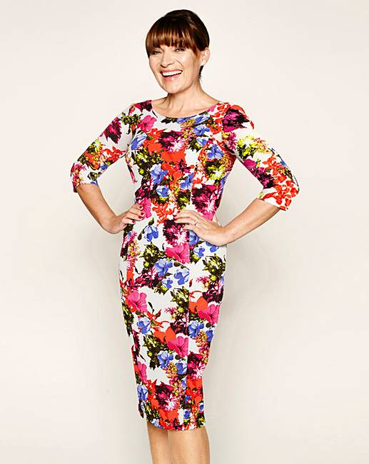 Lorraine Kelly Printed Textured Dress J D Williams