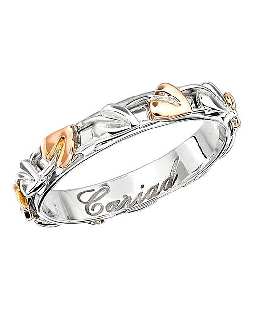 Clogau Rose Gold And Silver Band Ring Tree Of Life