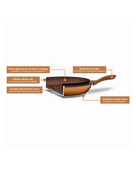 jml copper stone pan 28 cm fashion world. Black Bedroom Furniture Sets. Home Design Ideas
