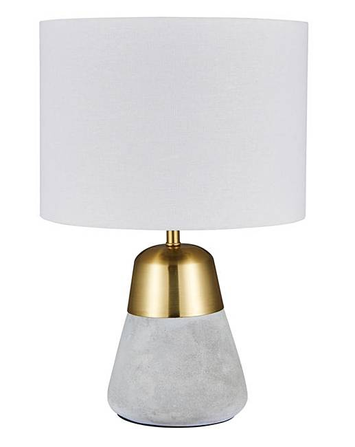Larson Concrete Gold Table Lamp