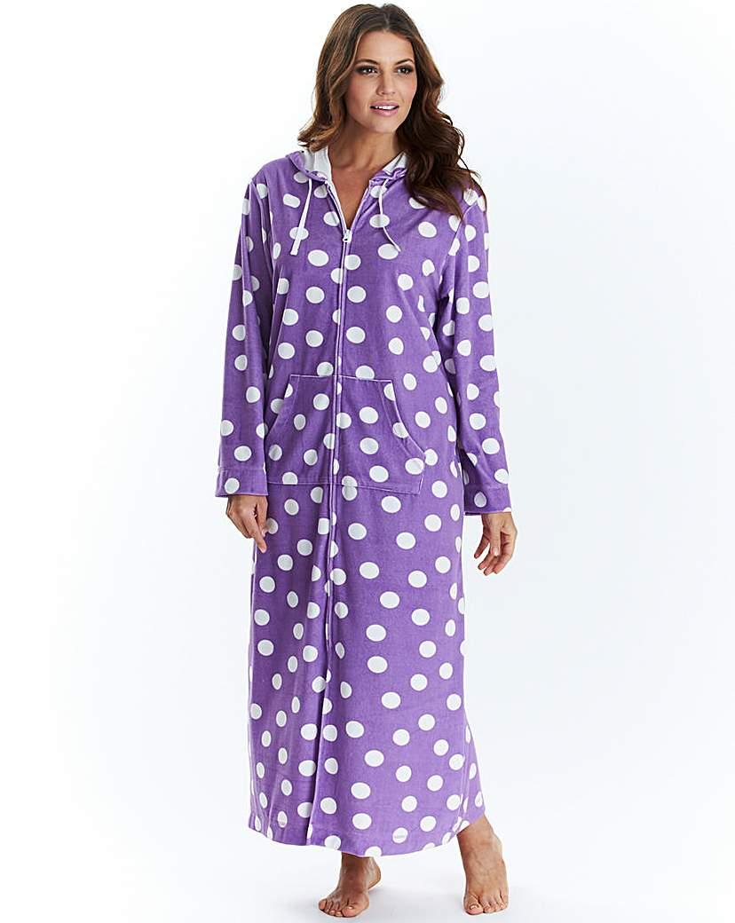 Pretty Secrets Velour Zip Gown L50 Spot