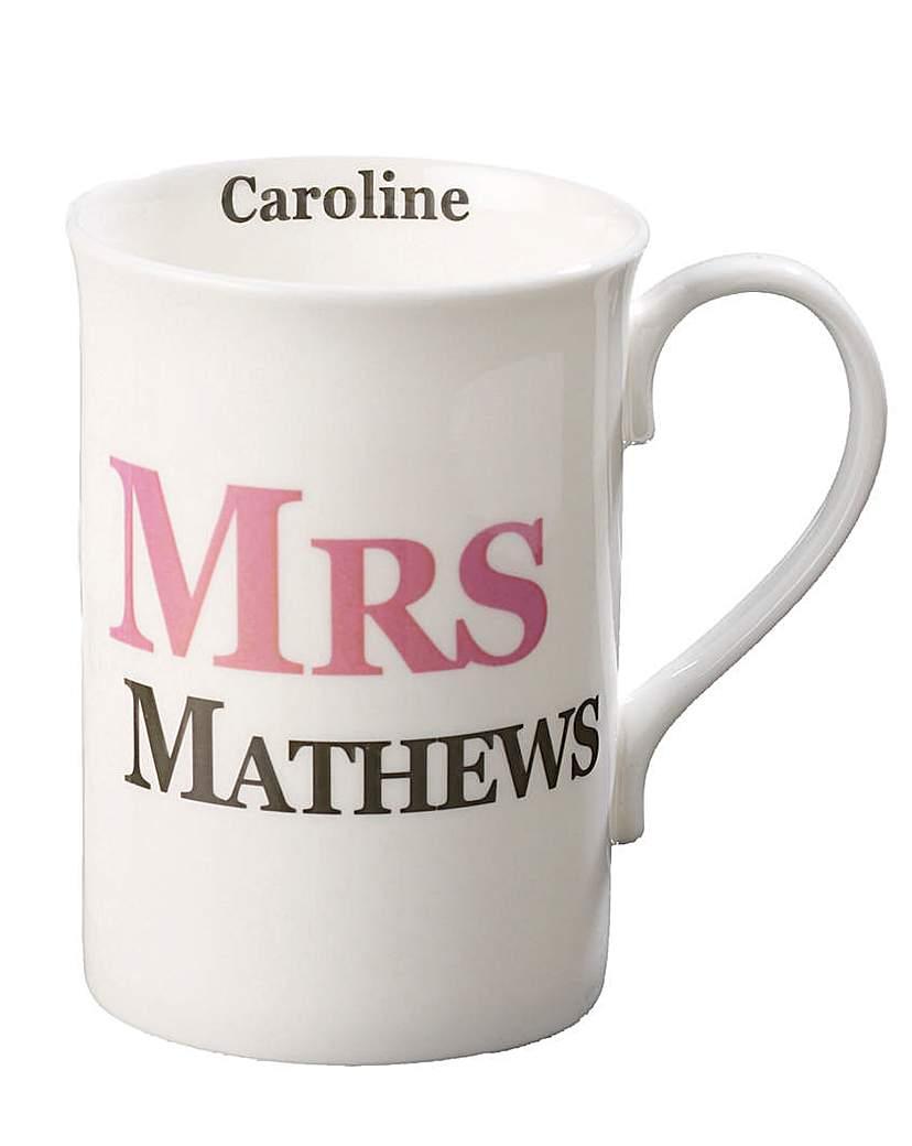 Image of Personalised Mrs Mug