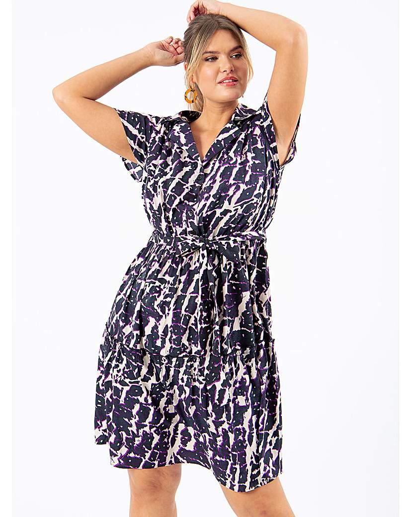 Koko Abstract Print Shirt Dress