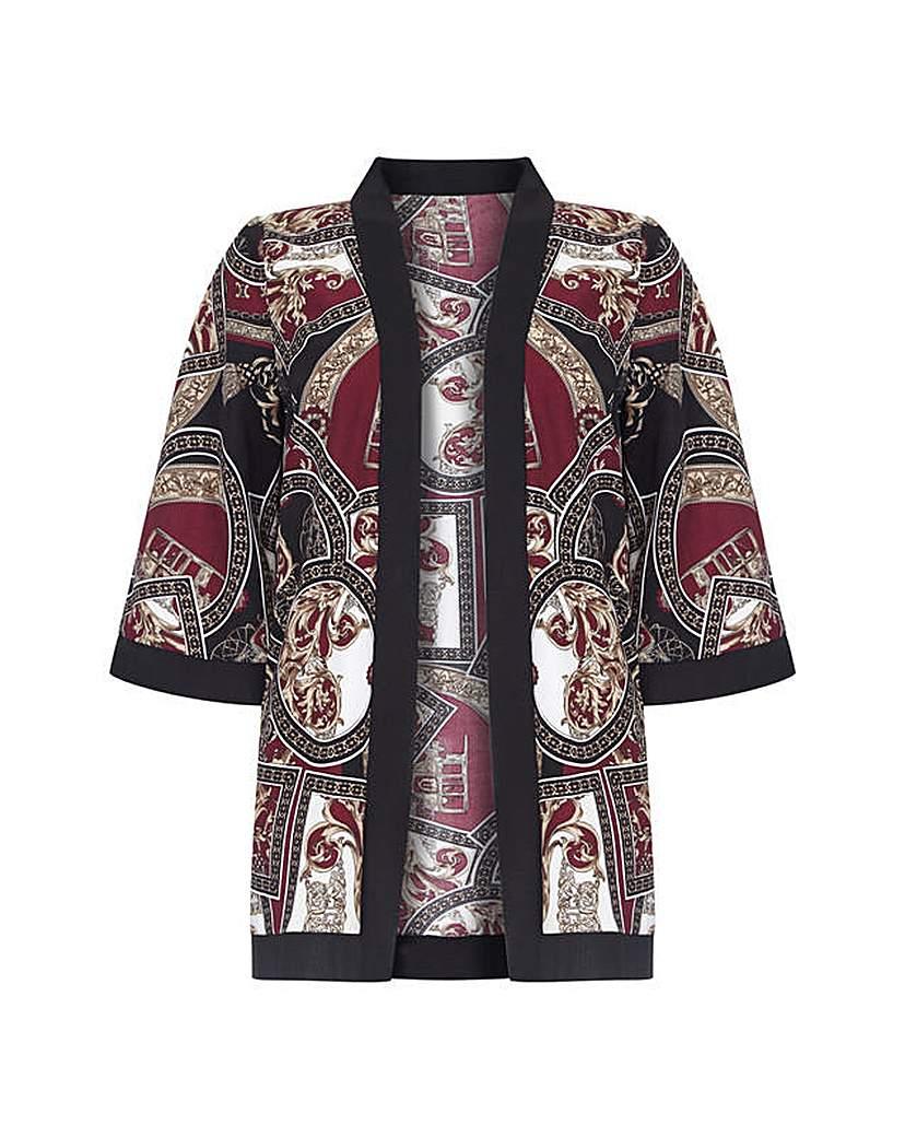 Mela London Curve Abstract Print Kimono