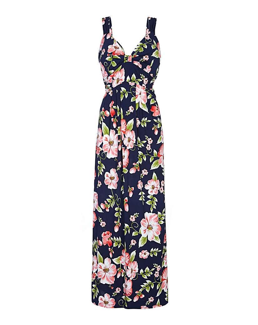 Image of Mela London Curve Floral Maxi Dress