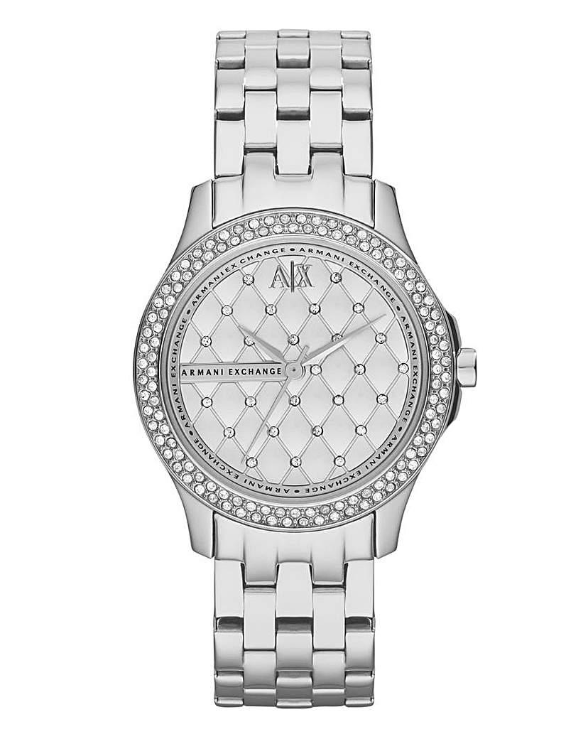 Armani Exchange Ladies Diamante Watch