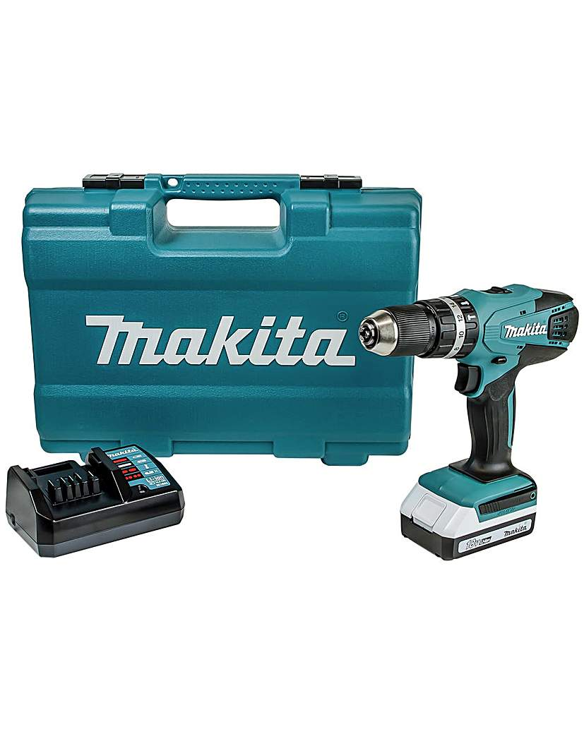 Image of 18V Cordless Hammer Drill with Battery