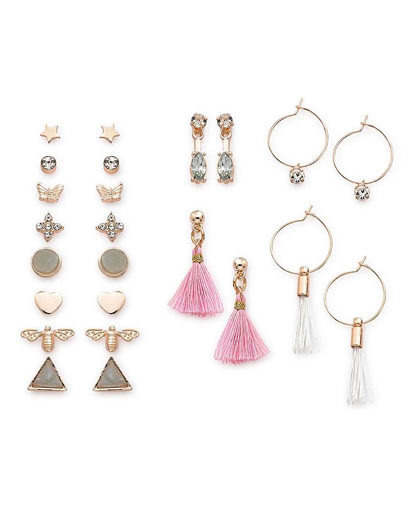 Image of 12 Pack Of Earrings