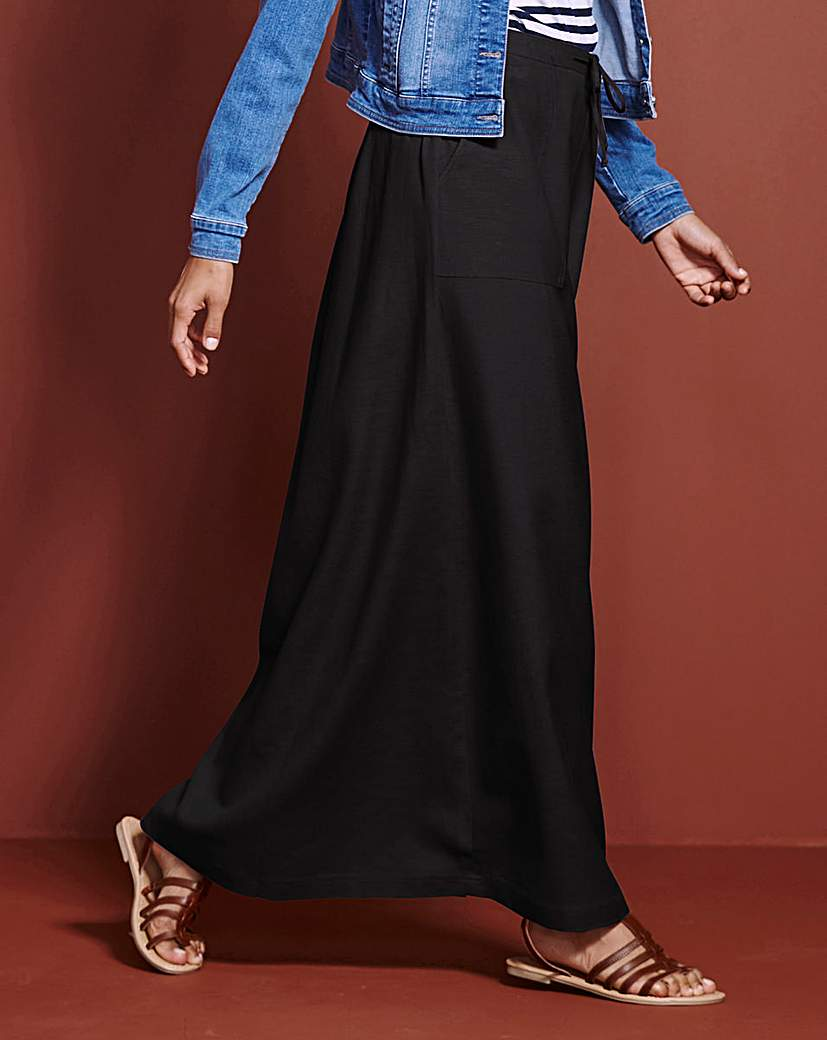 Petite Essential Linen Mix Maxi Skirt