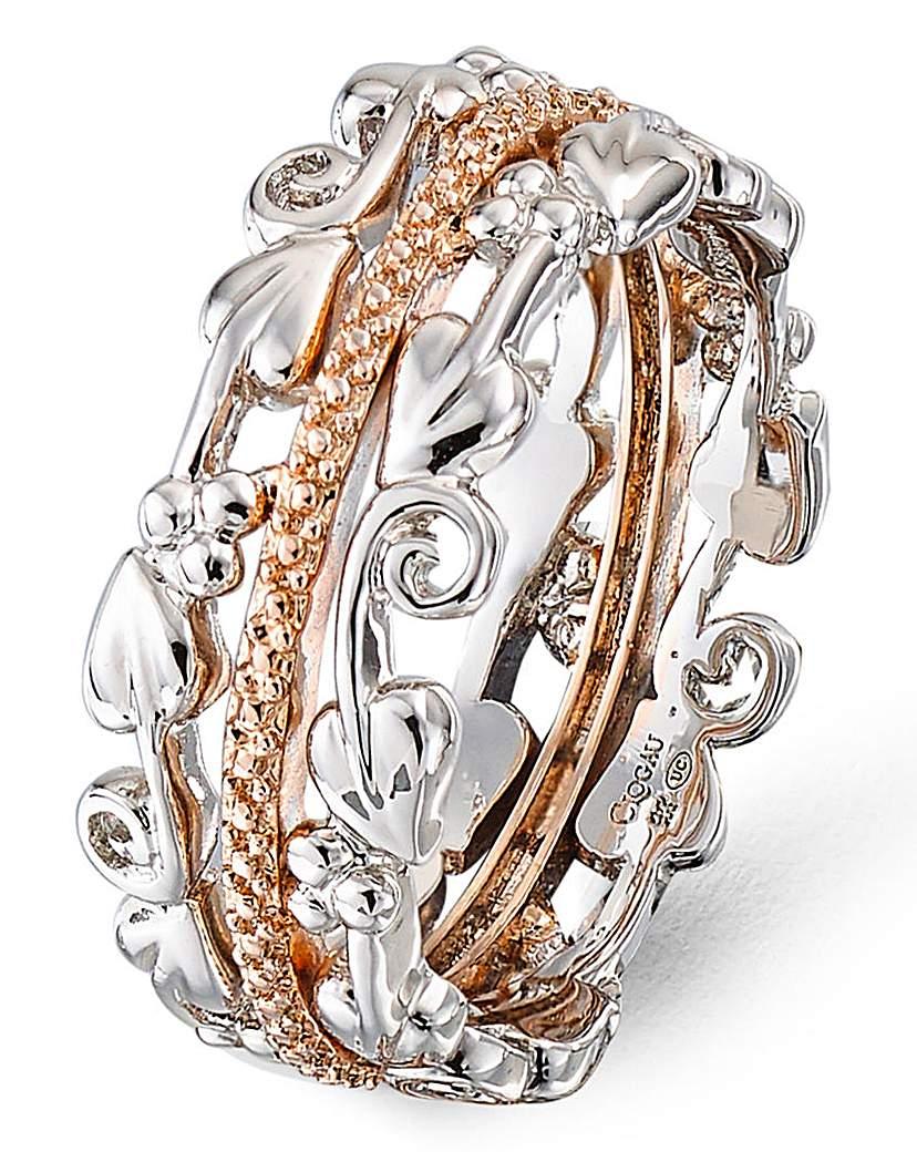 Clogau Silver & Rose Gold Am Byth Ring