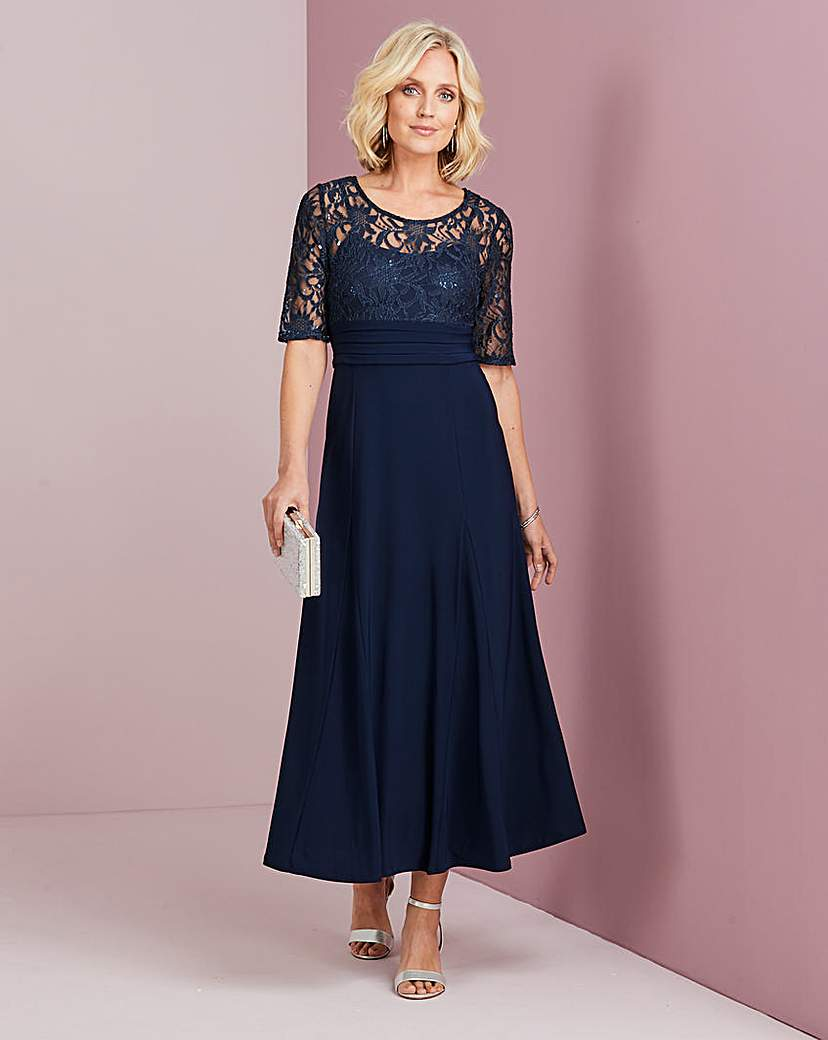 Downton Abbey Inspired Dresses Nightingales Lace Bodice Dress £95.00 AT vintagedancer.com