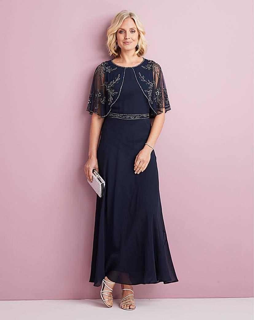 1930s Clothing Nightingales Beaded Cape Dress £125.00 AT vintagedancer.com